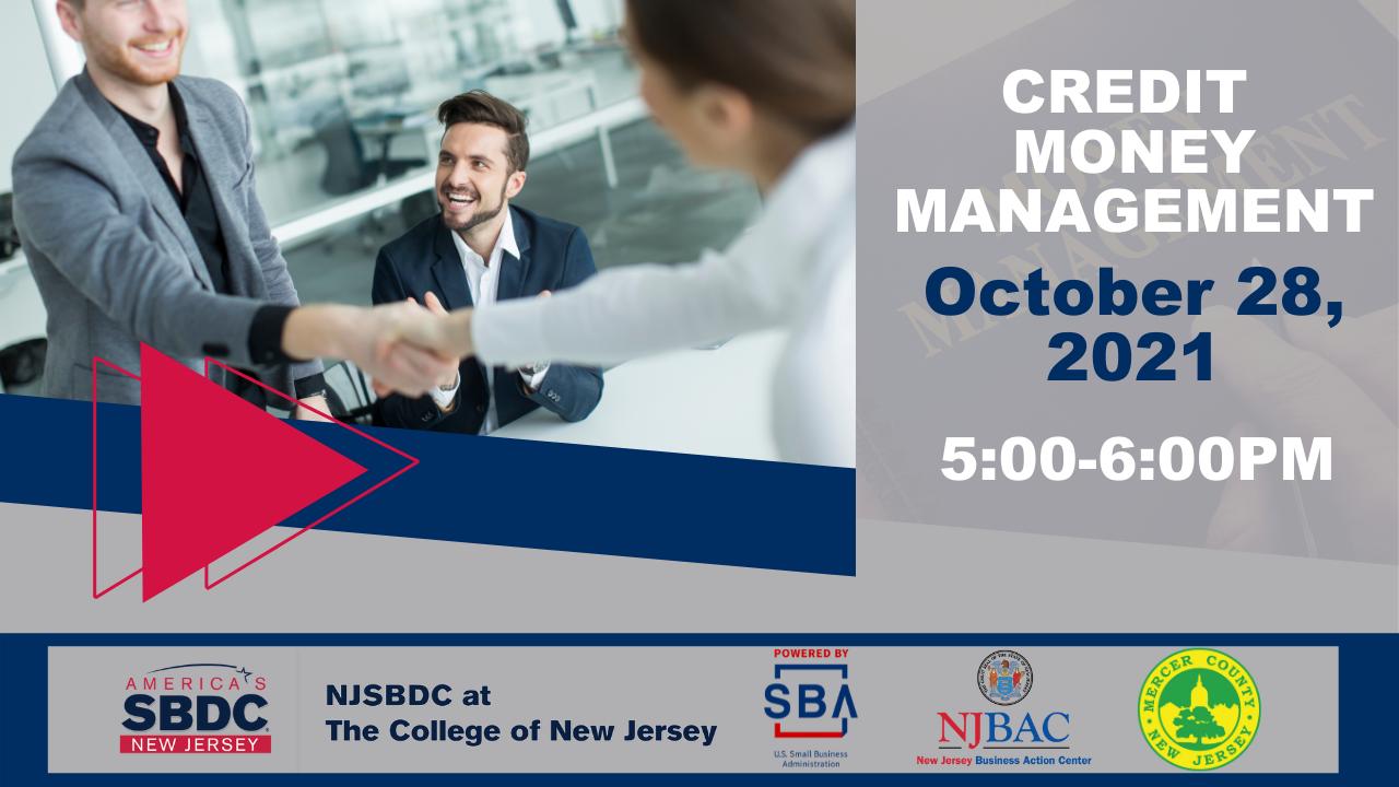 Credit Money Management - Webinar on October 28, 2021 at 5 PM