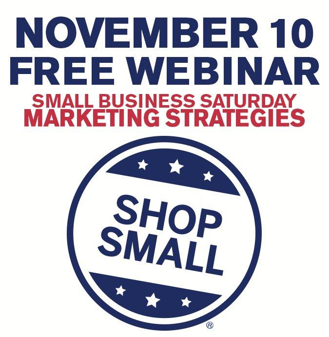 Free Nov 10 Shop Small Marketing Webinar