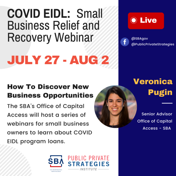 Briefing with SBA on New COVID EIDL - Small Business Loan Program