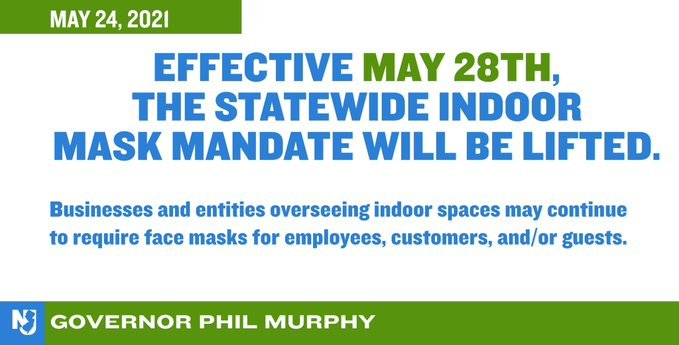 COVID-19 Update -May 28th - The Statewide Indoor Mask Mandate Will Be Lifted