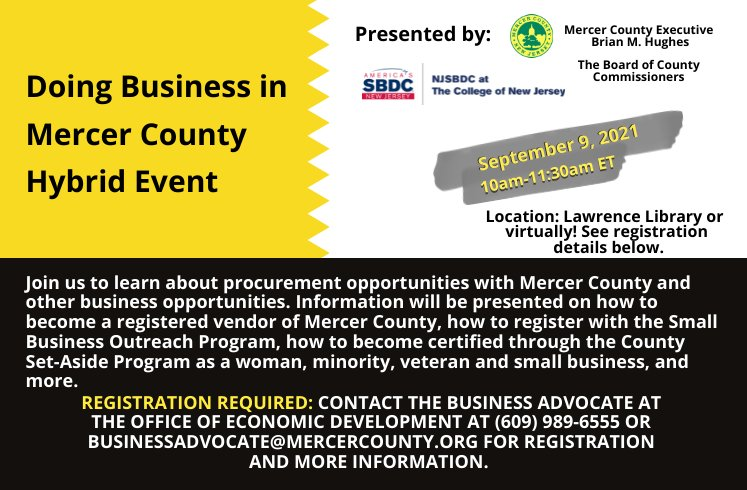 Doing Business with Mercer County and the Set Aside Program