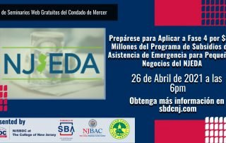 Prepárese para la Fase 4 por $85 Millones del Programa de Subsidios de Asistencia del NJEDA