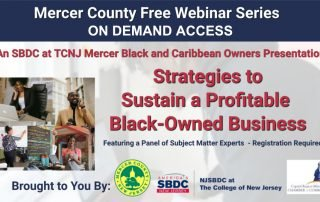 Strategies to Sustain a Black-Owned Business - NJ SBDC at TCNJ
