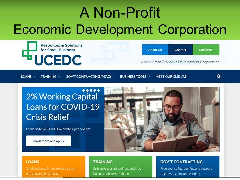UCEDC, Financing Programs Updates