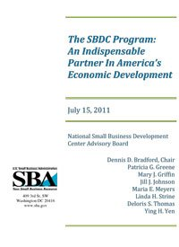 SBA SBDC Overview